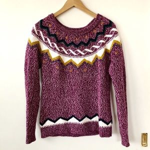 ❄️Old Navy Fair Isle Nordic Chunky Knit Sweater S